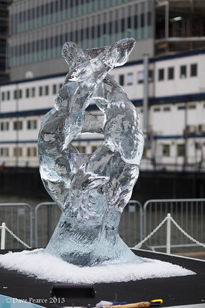 Ice Sculptures at Canary Wharf.