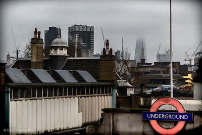 Roof tops and the Shard.